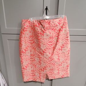 J Crew flower print pencil skirt